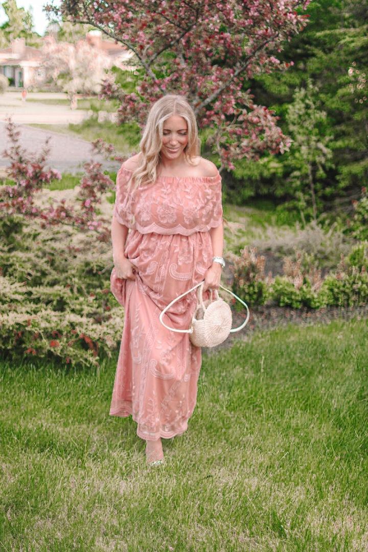 Romanic Lace MaternityDress